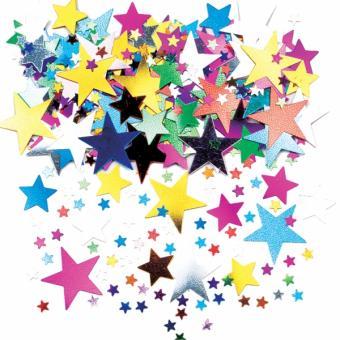 Konfetti Metallic Sterne bunt 14 Gramm