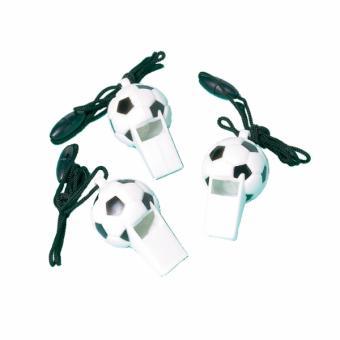 Trillerpfeife Fussball 12 Stück