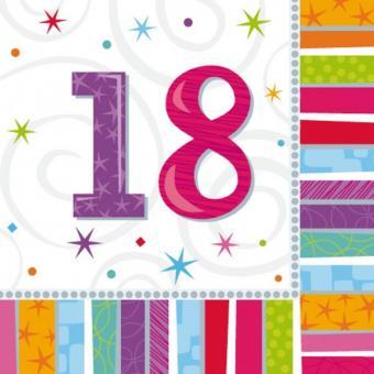 Servietten Geburtstag Radiant #18 33x33 cm