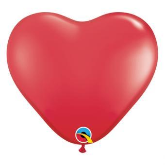 Latexballons Herz Mini Rot ø15cm 100 Stück