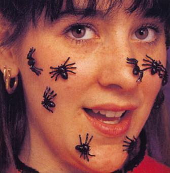 Spinnen schwarz 40 Stück