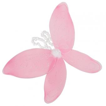 Flügel Schmetterling Fee Glitzernd Pink 29x50cm