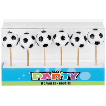 Kerzen Fussball 6 Stück
