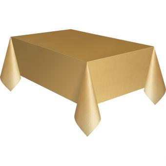 PVC-Tischdecke 137x274cm Gold