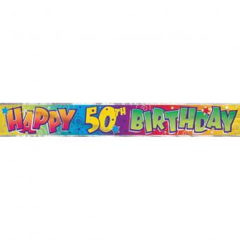 Banner Happy 50th Birthday 365cm