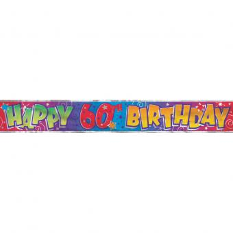 Banner Happy 60th Birthday 365cm
