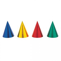 8 Partyhüte Prismatic-Party