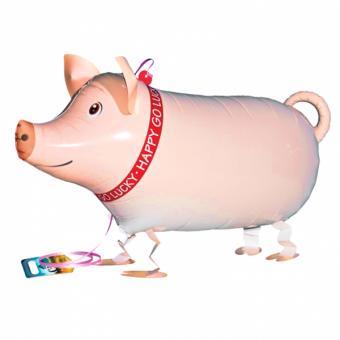Airwalker Glücksschwein Schweinchen 62cm