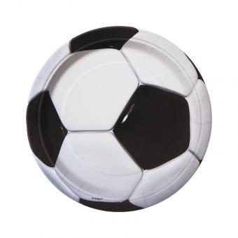 Pappteller Fussball ø18cm 8 Stück