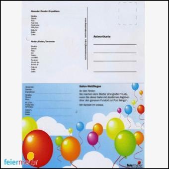Weitflugkarten Ballonweitflug Wettbewerb 100 Stück