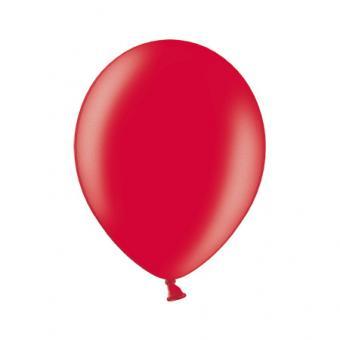 100 Latexballons ø30cm Karminrot Metallic