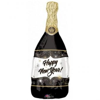 Folienballon Champagner Flasche Happy New Year