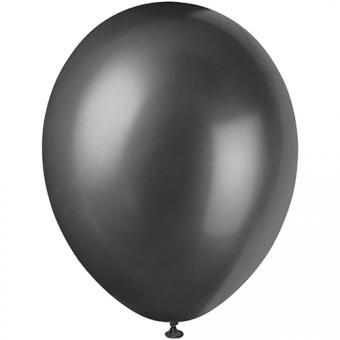 Latexballons Metallic Schwarz ø30cm 8 Stück