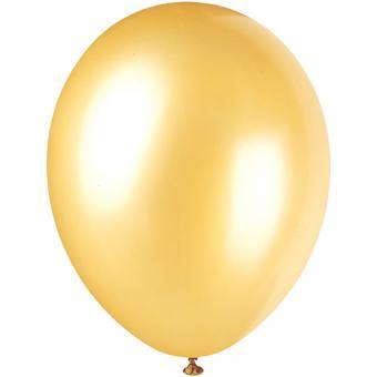 Latexballons Metallic Gold 30cmø 8 Stück