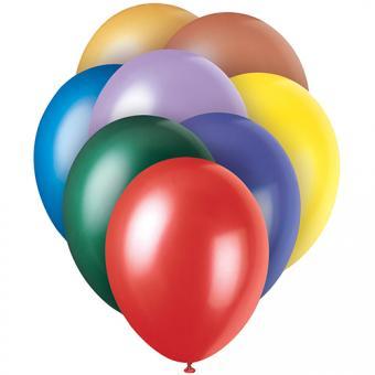 Latexballons Metallic Bunter Mix ø30cm 8 Stück