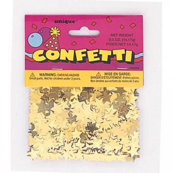 Konfetti Metallic Sterne Gold 14g