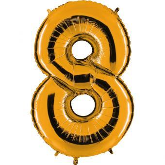 Ballon Riesenzahl Acht 8 Gold