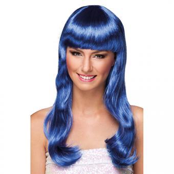 Langhaar-Perücke Chique Blau