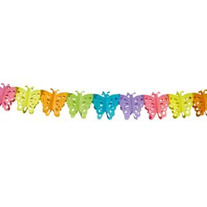Papier-Girlande Schmetterling 6m