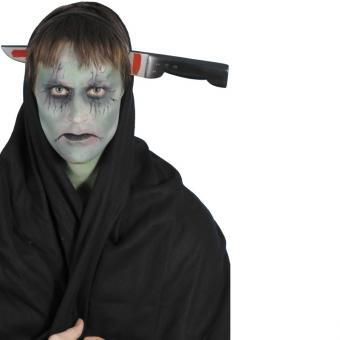 Haarreif Messer im Kopf