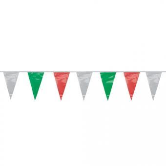 Wimpelkette grün-weiss-rot wetterfest 4m