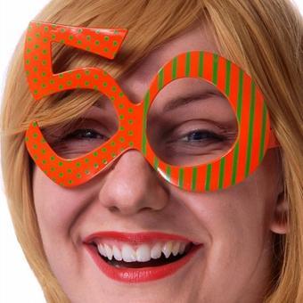 Brille 50. Geburtstag orange