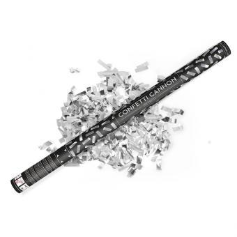 Konfetti Shooter Streifen Silber 80cm Stück 1