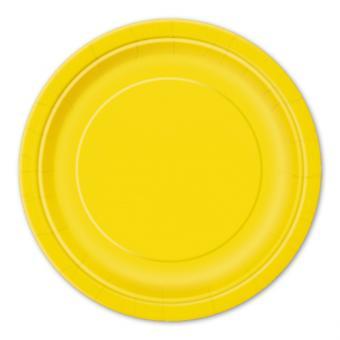 8 Pappteller Circle Gelb ø23cm