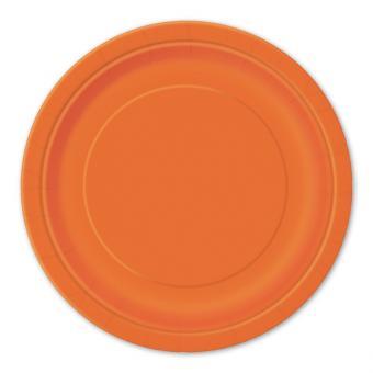 8 Pappteller Circle Orange ø23cm