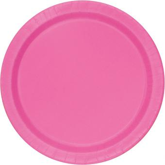 8 Pappteller Circle Pink ø23cm