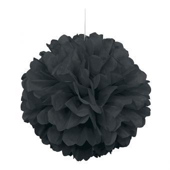 Pompom Fluffy in Schwarz ø40cm