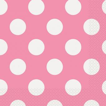 Servietten Dots Magenta 33x33 cm 16 Stück