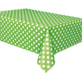 Tischdecke PVC Dots grün 137x274cm
