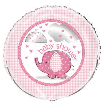 Folienballon Elefant Baby Shower pink 45cmø