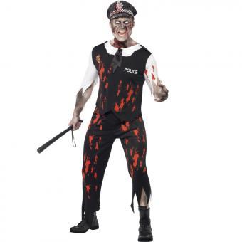 Herrenkostüm Zombie Polizist M