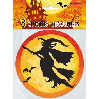 8 Dekoelemente Spooky Hollow 12,5cm