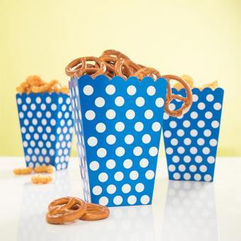 8 Snackboxen Dots Punkte in Blau