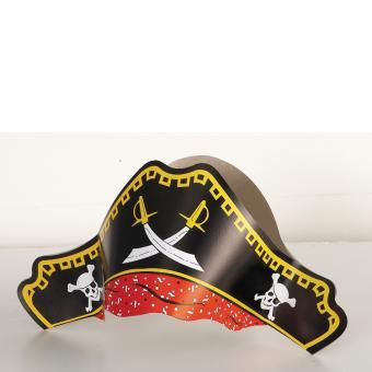 Partyhüte Pirat 4 Stück