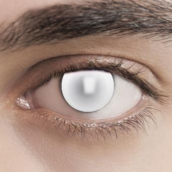 Kontaktlinsen Zombie Blind White Vollweiss