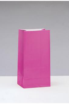 12 Papiertüten in Pink