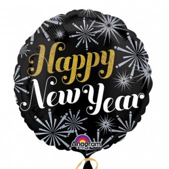 Folienballon Happy New Year ø45cm