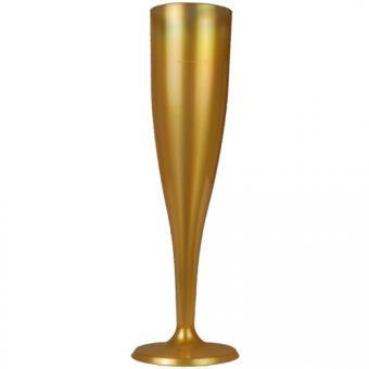6 Sektgläser Champagner 0,1l gold
