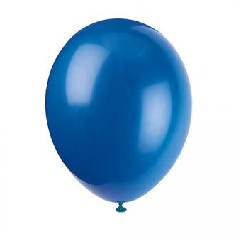 Latexballons Metallic Dunkelblau 30cmØ 10 Stück