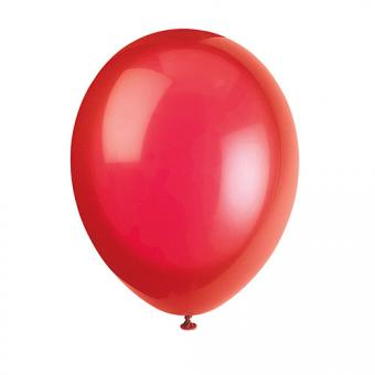 Latexballons Metallic Rot 30cmØ 10 Stück