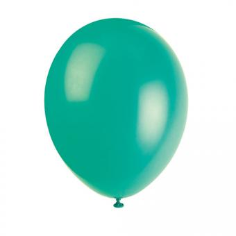 Latexballons Metallic Dunkelgrün 30cmØ 10 Stück