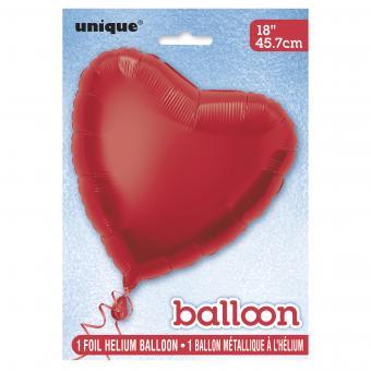 Folienballon Herz 45cmØ Rot