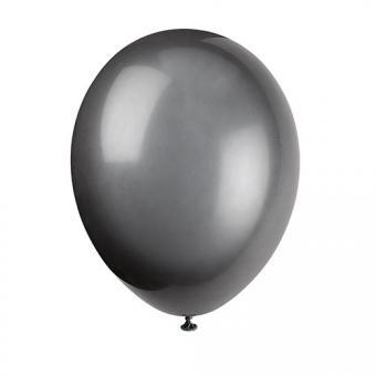 Latexballons Metallic Schwarz 30cmØ 10 Stück