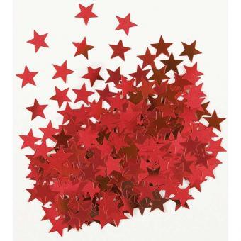 Konfetti Metallic Sterne Rot 14g