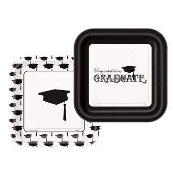 Pappteller Graduation ø18cm 8 Stück