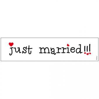 Schild Just Married (50x11,5cm)